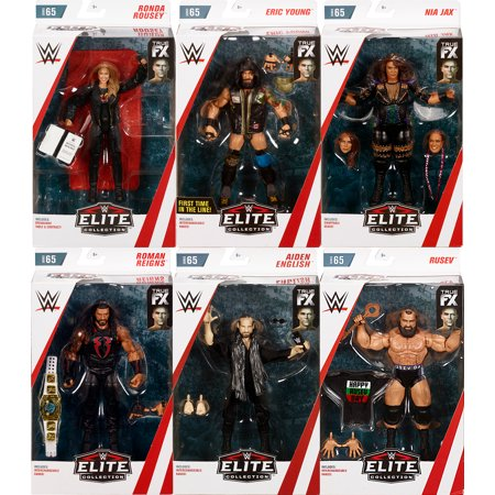 WWE Elite 65 - Complete Set of - Wwe Toy Rings