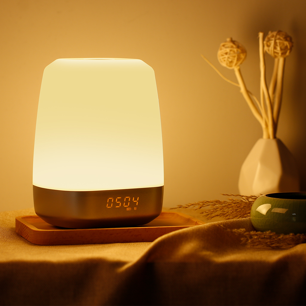 Finether Wake-Up Light Alarm Clock with Colored Sunrise Simulation, 5 Natural Sounds