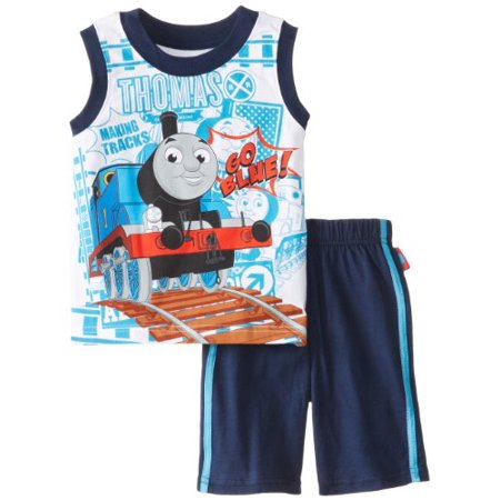 Thomas Little Boys' 2 Pieced Short Set, Navy, 4T ()