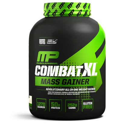 MusclePharm Combat XL Mass Gainer Protein Powder, Vanilla, 50g Protein, 6 Lb