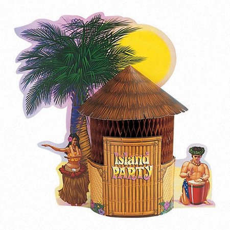 Creative Converting Tiki Hut Centerpiece](Diy Tiki Hut)
