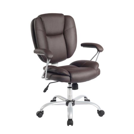 Techni Mobili Plush Task Office Chair With Techniflex Upholstery RTA-0930, Brown ()