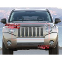 Compatible with 06-10 2010 Jeep Compass Vertical Main Upper Billet Grille Insert J65538V