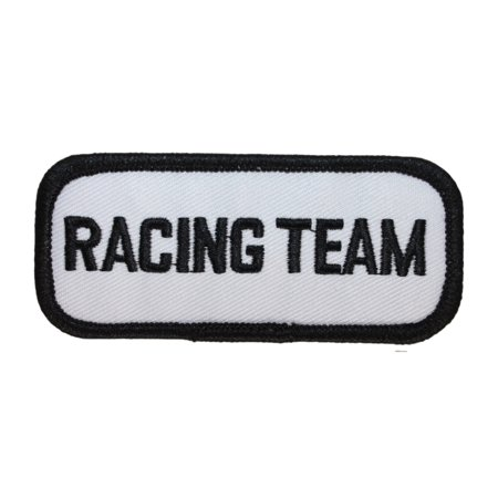 Embroidered Racing (ID 1455 Racing Team Patch Name Tag Race Jacket Embroidered Iron On Applique)