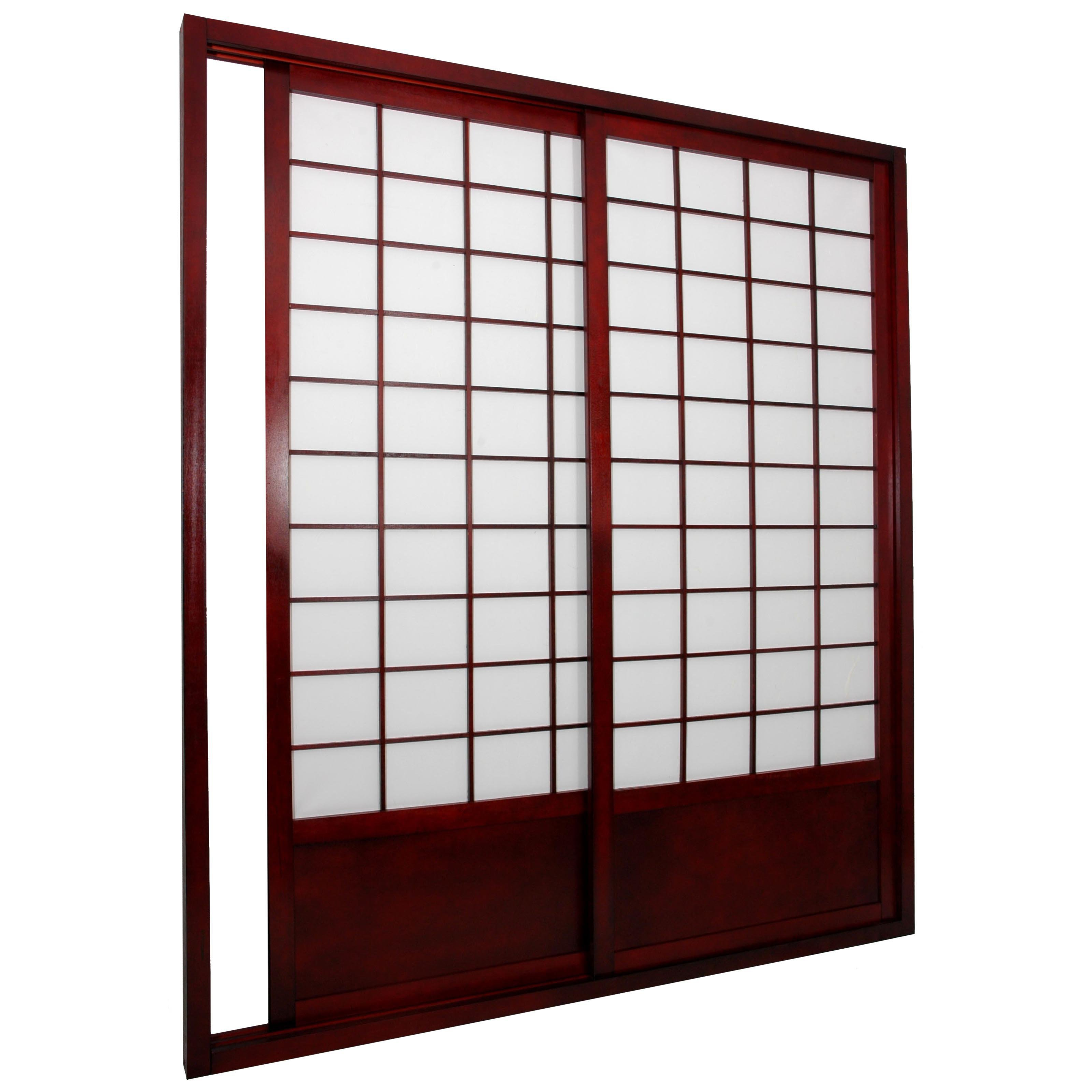 Oriental Furniture Shoji Double Sided Sliding Door Kit Room Divider