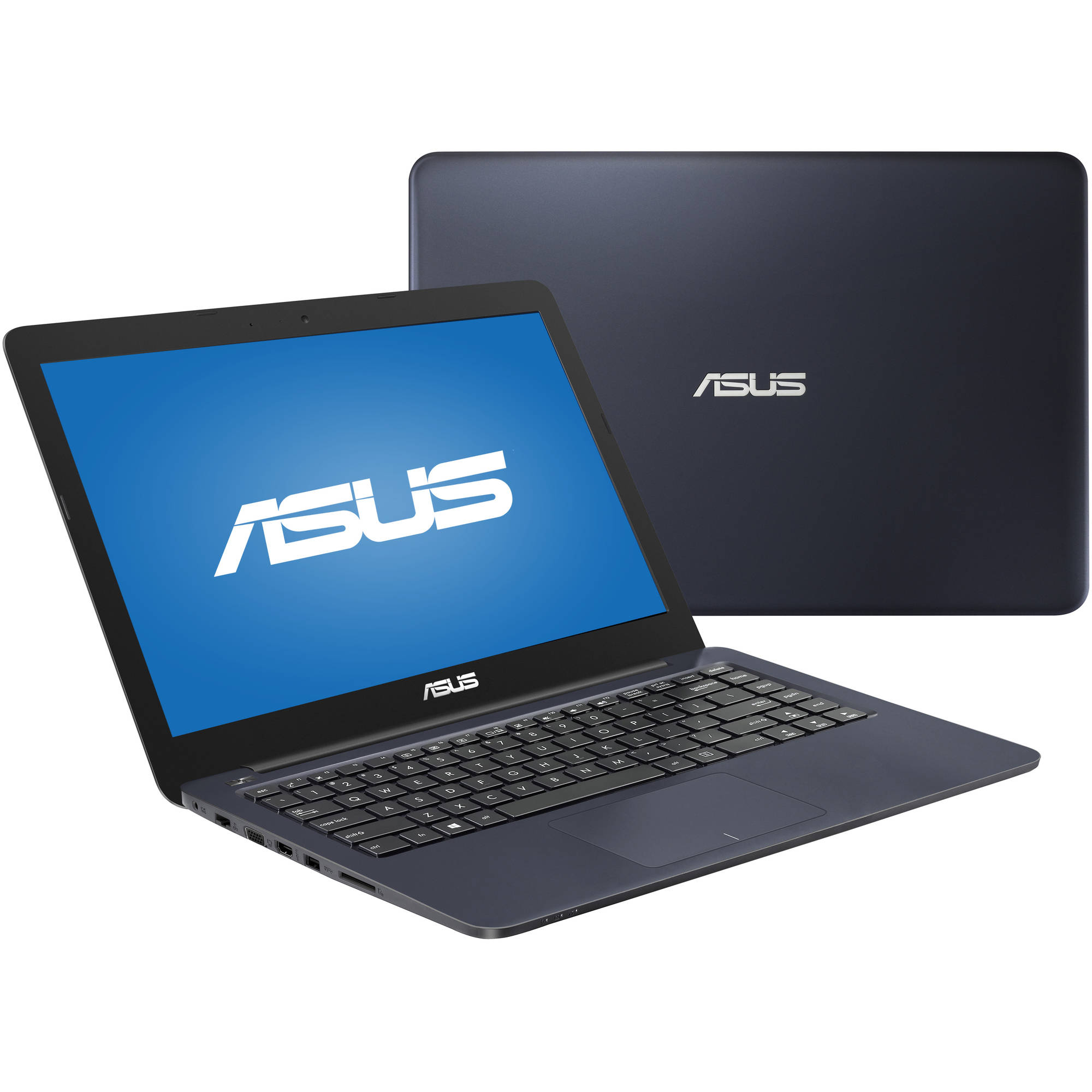"ASUS Dark Blue 14"" EeeBook Laptop PC with Intel Celeron N3060 Dual-Core Processor, 4GB Memory, 32GB eMMC Flash Memory Drive and Windows 10 Home"