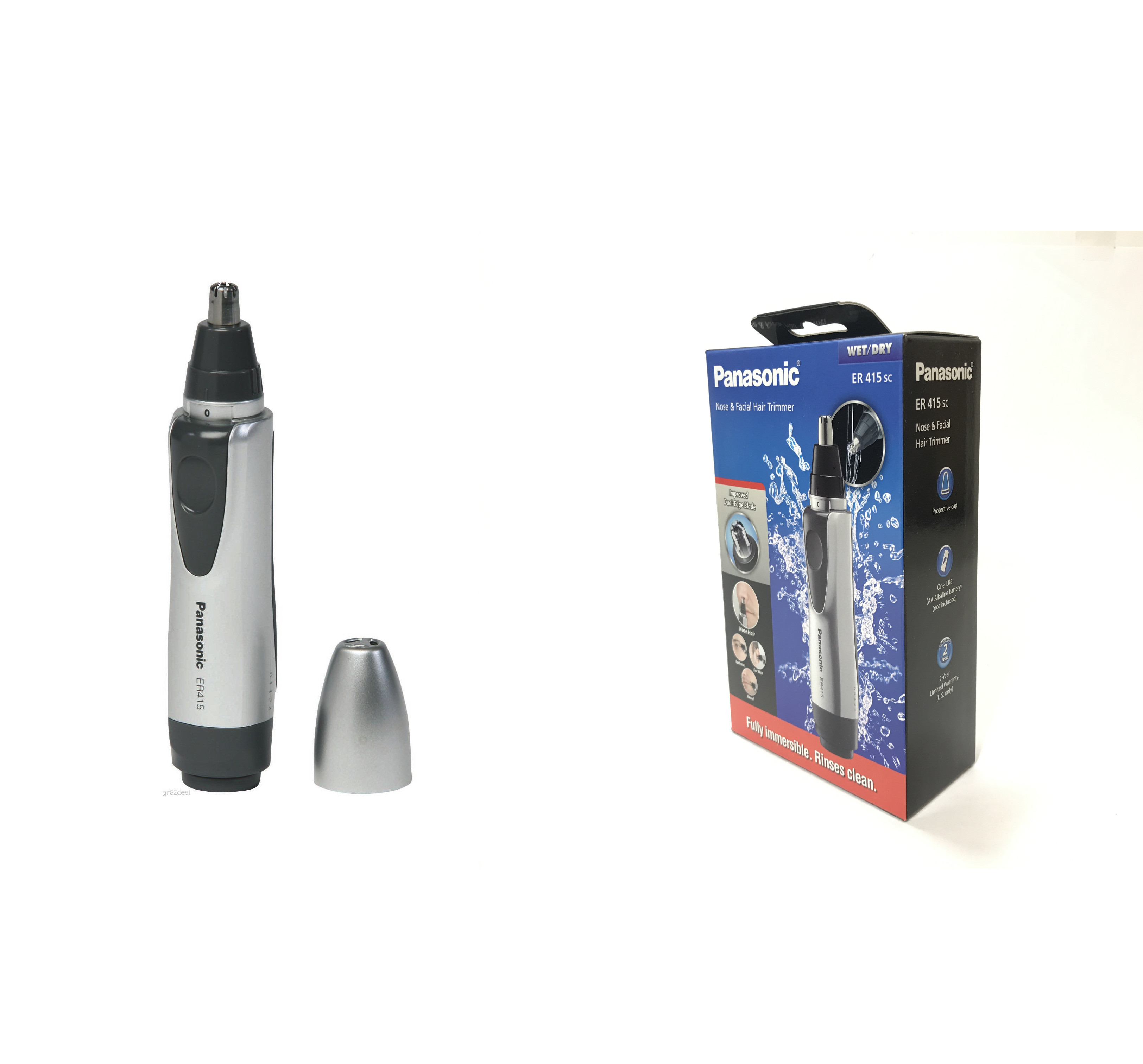 Panasonic Battery-Operated Nose and Facial Hair Trimmer