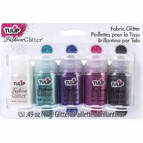 Tulip Fashion Glitter ,14g, 5pk, Rock and Roll