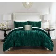 River Street Designs Kerk 8 Piece Comforter Set Crinkle Crushed Velvet Bed in a Bag