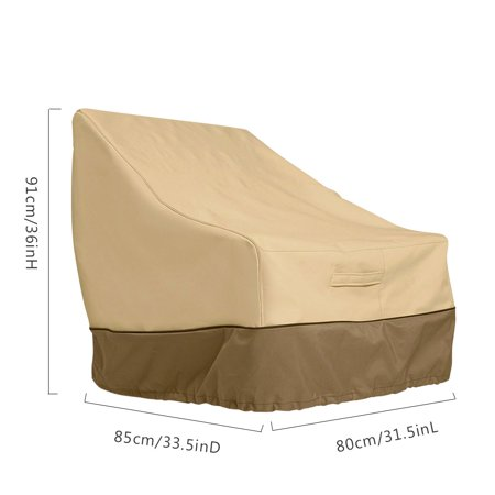 Ustyle Patio Chair Cover Lounge Deep Seat Cover Waterproof Outdoor Lawn Furniture Cover - Coffee + Khaki - image 9 of 9