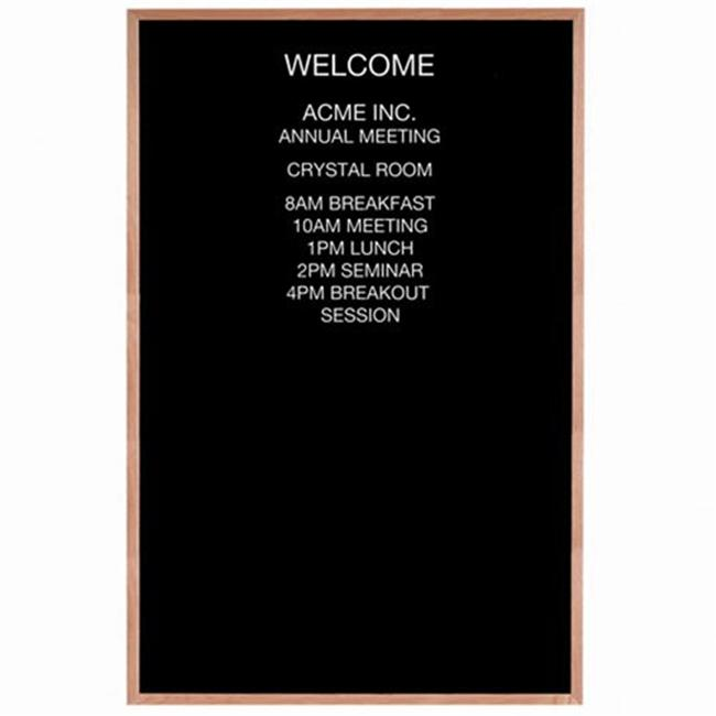 Aarco Products AOFD7248 72 in. H x 48 in. W Framed Letter Board Message Boards Wood Frame by Aarco Products Inc