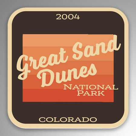 2-Pack Great Sand Dunes National Park Decal Sticker | 4-Inches By 4-Inches | Vinyl Sticker | UV Protective Laminate | PD996 (Dune Sticker)