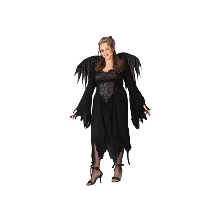 Adult Plus Size Black Rose Fairy Costume - Adult Fairy Costume