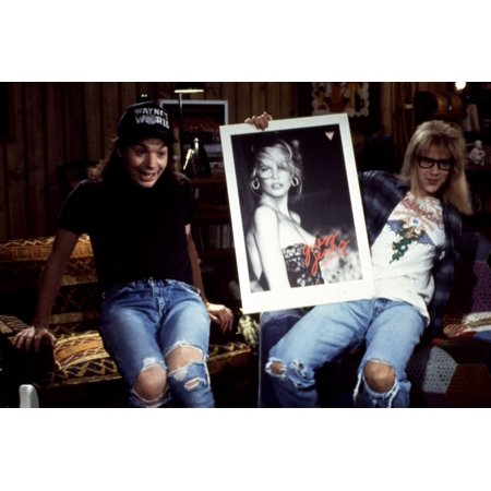 WayneS World Mike Myers Dana Carvey 1992 Picture Of Claudia Schiffer Photo Print