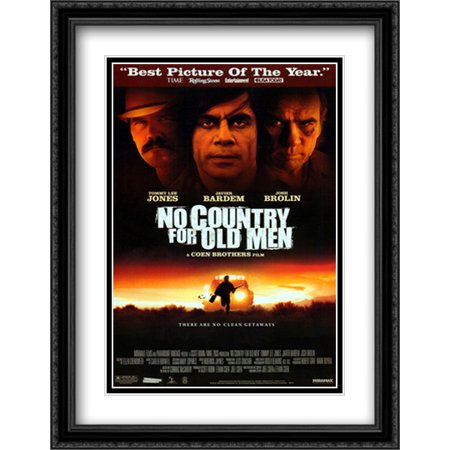 No Country For Old Men 28x36 Double Matted Large Black Ornate Framed Movie Poster Art Print Black Large Country Bell