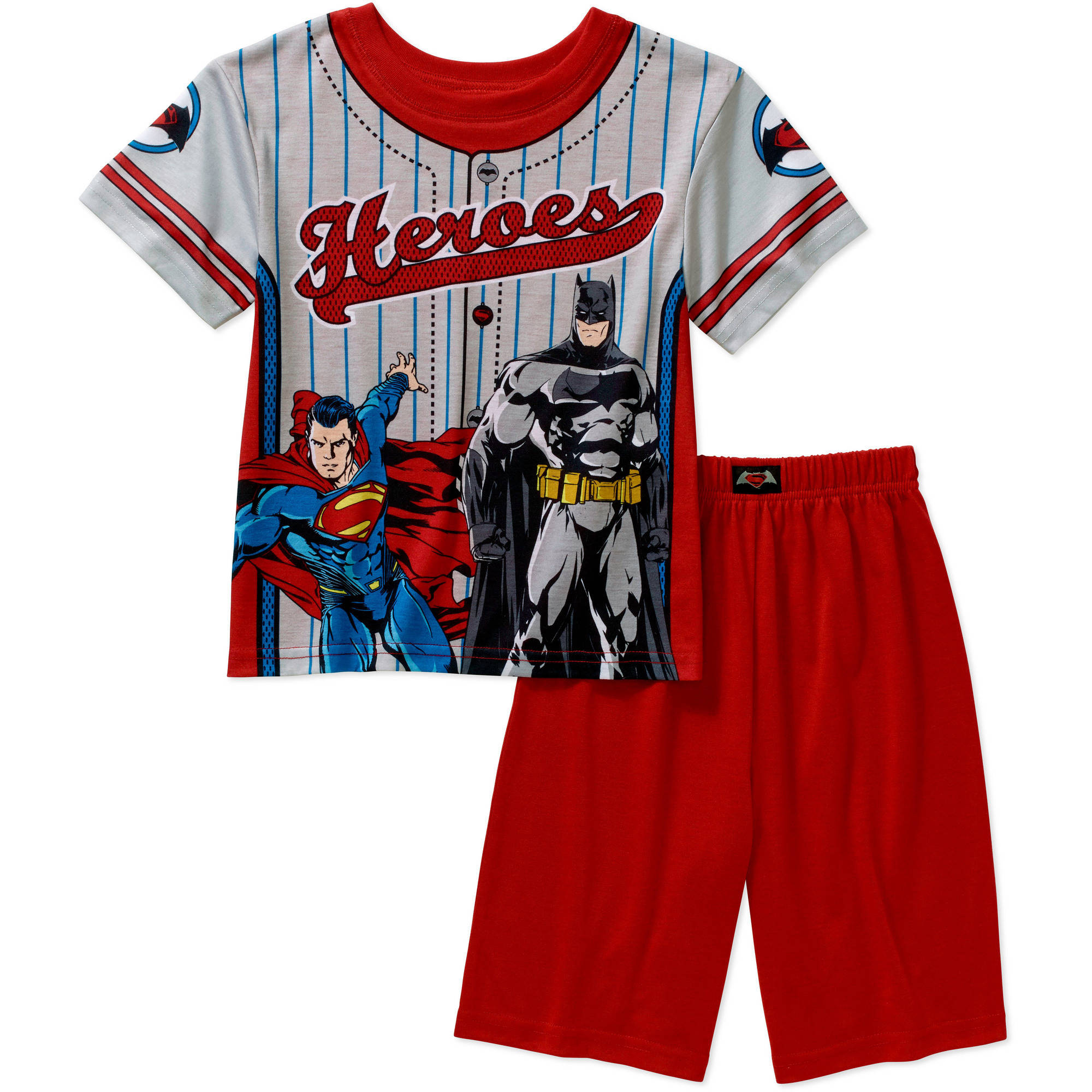DC Comics Batman Boys' License Muscle Sleep Shirt and Short 2 Piece Pajama Set