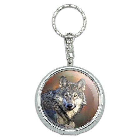 Wolf Portable Ashtray Keychain