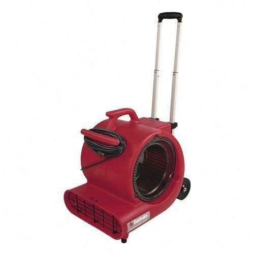 Sanitaire SC6052A Air Mover Wheels and Handle 3 Speed 1/2 HP 20' Cord Red