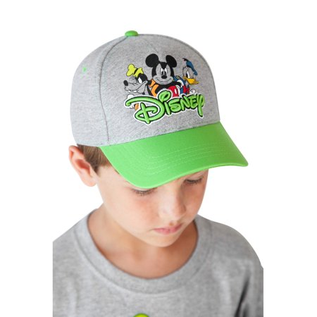 5838c27cd8aab3 Disney - Mickey Mouse & Friends Kids Baseball Hat - Gray Green - Walmart.com