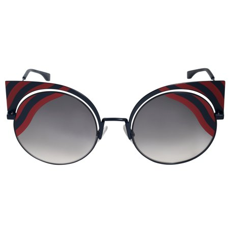7ab86187ff97 FENDI - Fendi FF 0215 S 00M1 Hypnoshine Dark Blue Red Cat Eye Sunglasses -  Walmart.com
