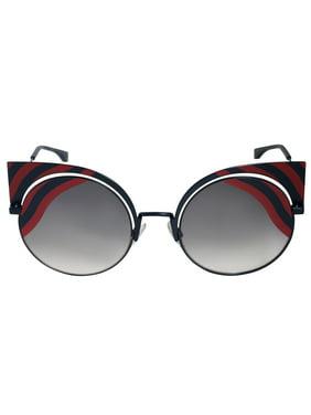 4c00fb9cf4e41 Product Image Fendi FF 0215 S 00M1 Hypnoshine Dark Blue Red Cat Eye  Sunglasses