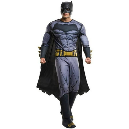 Batman v Superman: Dawn of Justice Batman Deluxe Men's Adult Halloween Costume, Plus](Superman Costume For Adults)