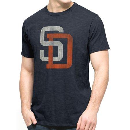 San Diego Padres 47 Brand MLB Mens Cooperstown Scrum Premium Navy T-Shirt by