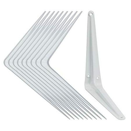 Shelf Brackets White 8 X 10 Inch Pack Of 10 Wall L Bracket Supports For Hanging Diy Shelves Metal Steel Heavy Duty Strength 52 Walmart Canada