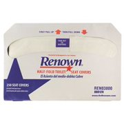 Renown Half-Fold Toilet Seat Covers, 250 SHeets Per Pack, 20 Packs Per Case by Renown