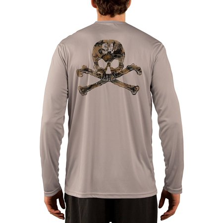 SAND.SALT.SURF.SUN Skull Men's UPF 50+ UV/Sun Protection Long Sleeve T-Shirt