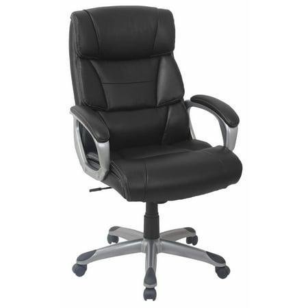 Enjoyable Berkley Jensen Bonded Leather Manager Chair Black Gray Cjindustries Chair Design For Home Cjindustriesco