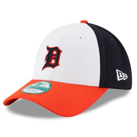 Detroit Tigers New Era Perfect Block 2 9FORTY Adjustable Hat - White - OSFA ()