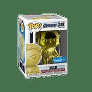 Funko POP! Marvel: Avengers Endgame - W2 - Hulk (Yellow Chrome) (Walmart Exclusive)