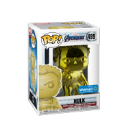 Funko POP! Marvel: Avengers Endgame - W2 - Hulk (Yellow Chrome) (Walmart Exclusive)