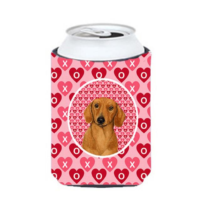 Dachshund Valentines Love And Hearts Can Or Bottle  Hugger - 12 oz. - image 1 de 1
