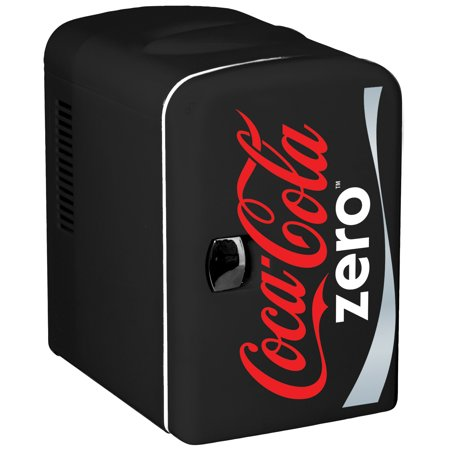 Coca-Cola Zero 6 Can Personal Mini Cooler and Fridge