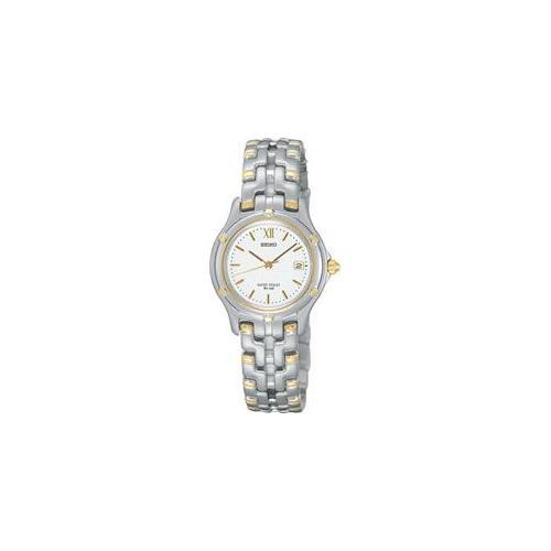 Seiko SXE586 Womens Two Tone Watch
