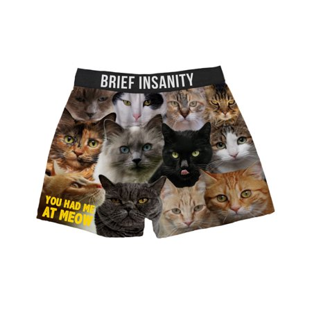 Brief Insanity Men's Boxer Shorts Underwear Mixed Cat Breeds Print Pure Breed Boxer