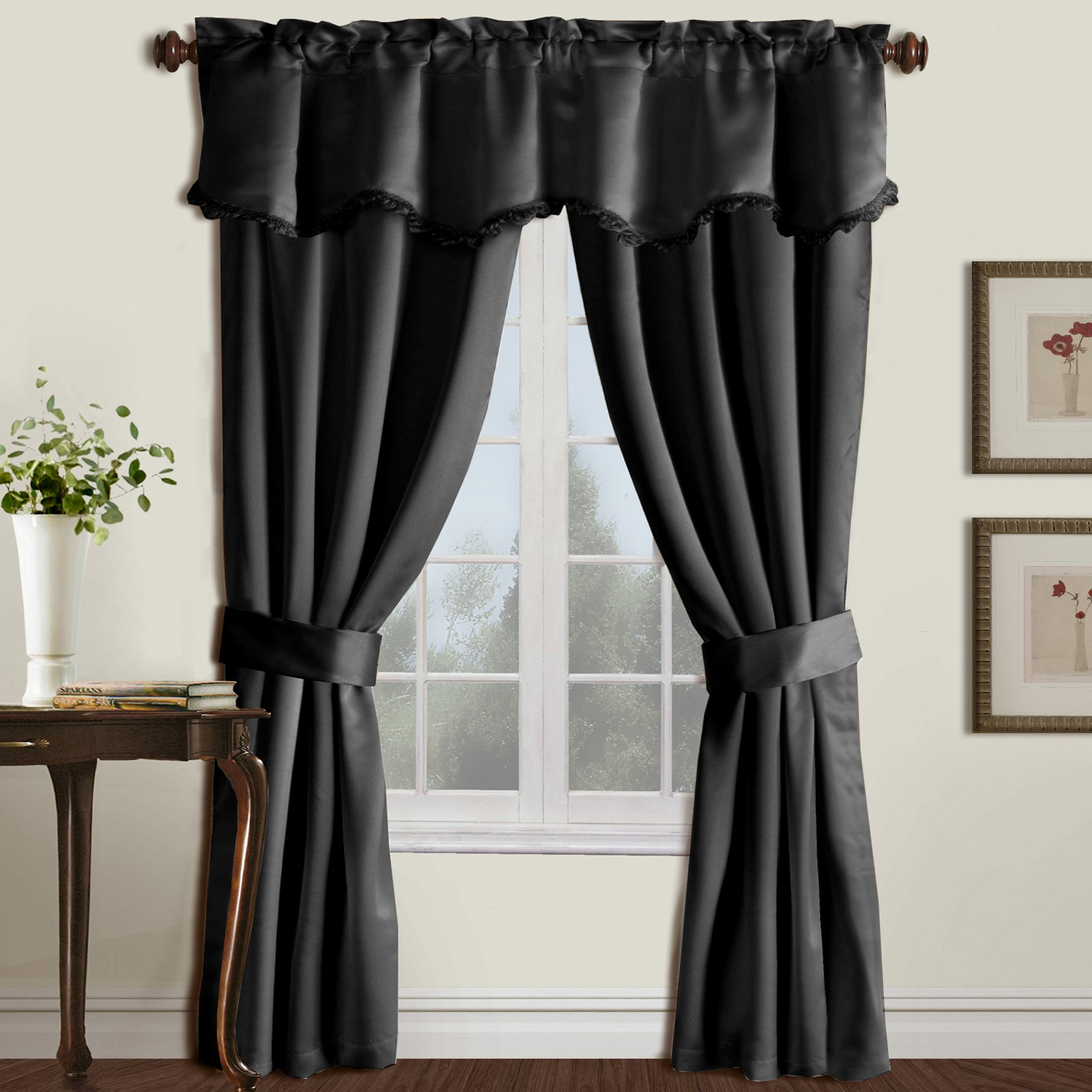 Walmart Curtains For Living Room Prepossessing United Curtain Burlington 5 Piece Window Curtain Set  Walmart Review