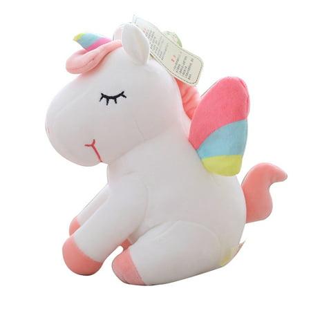 Fluffy Stuffed Animals (KABOER Adorable Unicorn Horse Plush Fluffy Stuffed Animal Doll Toys Kids)
