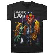 Judge Dredd Men's  I Am The Law-Black T-shirt Black
