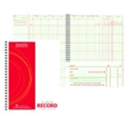 Hammond And Stephens P Large Square Format Wire-O Bound Class Record Book, Green & Red