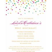 Birthday invitations gold dots standard birthday invitation filmwisefo