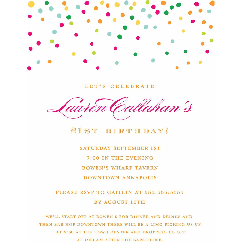 Gold Dots Standard Birthday Invitation