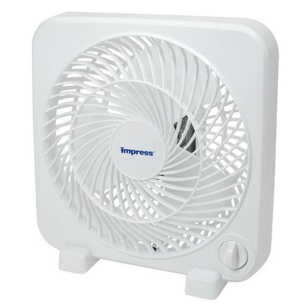 Impress 9 Inch Box Fan- White