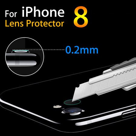 0.2mm Rear Back Camera Lens Slim Tempered Glass Protector Film For iPhone 8