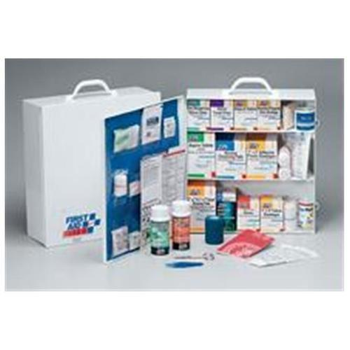 "First Aid Only 3-shelf 100-person First Aid Kit - 1092 X Piece[s] For 100 X Individual[s] - 16.5"" X 15"" X 5.5"" - Metal Case (247op)"