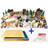 Sand Tray Play Therapy Premium Starter Kit Full Package with Sand Tray & Sand