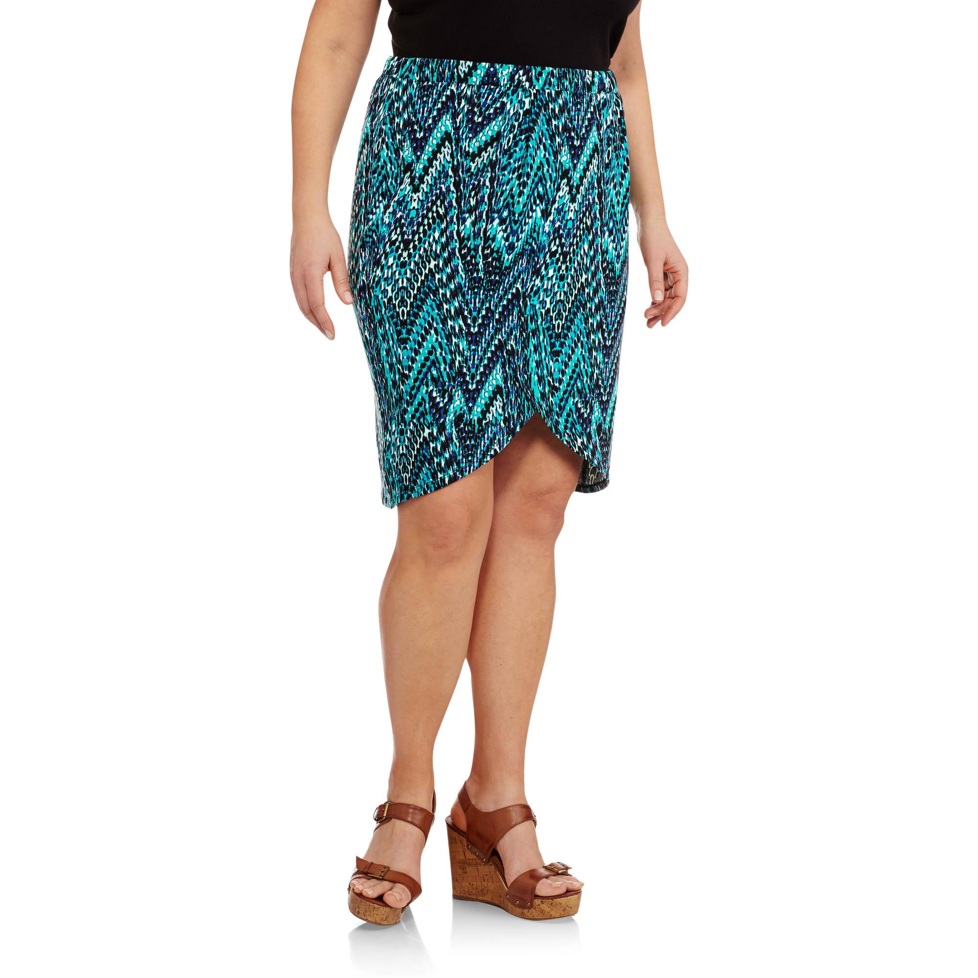 Concepts Women's Plus-Size Tulip Midi Skirt
