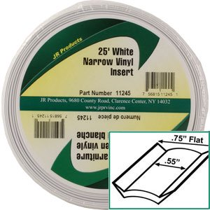 JR PRODUCTS 11245 Exterior Hardware RV 0.75 in. x 25 ft. Std Narrow Vinyl Insert - image 1 of 2